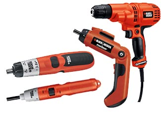 Black and Decker  Screwdrivers Parts