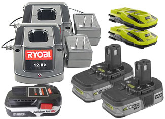 Ryobi  Battery and Charger Parts