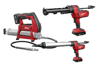 Milwaukee  Cordless Caulking & Grease Guns