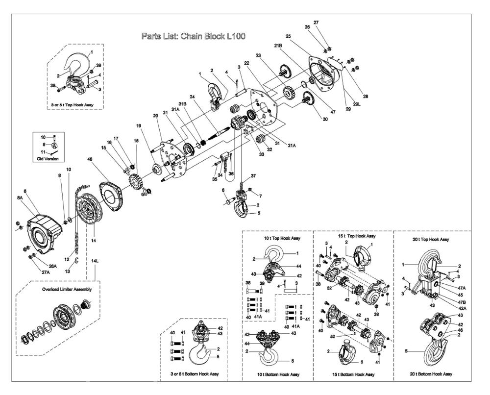 Chain Lift Diagram : Buy jet l  t hoist w lift
