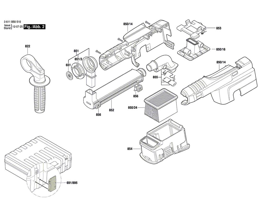 11250VSRD(3611B50510)-bosch-PB-1Break Down