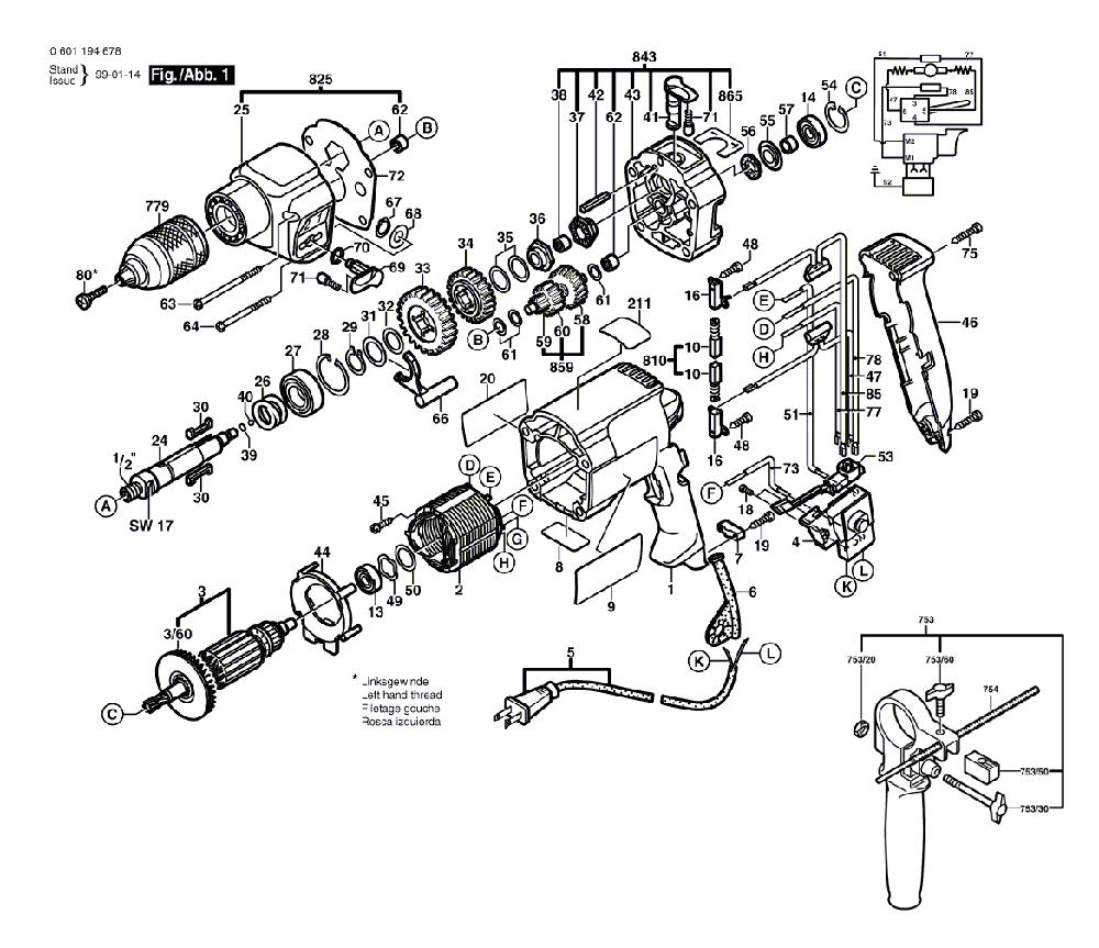 buy bosch 1194avsrk dual torque vsr 1 2 inch replacement tool parts bosch 1194avsrk electric