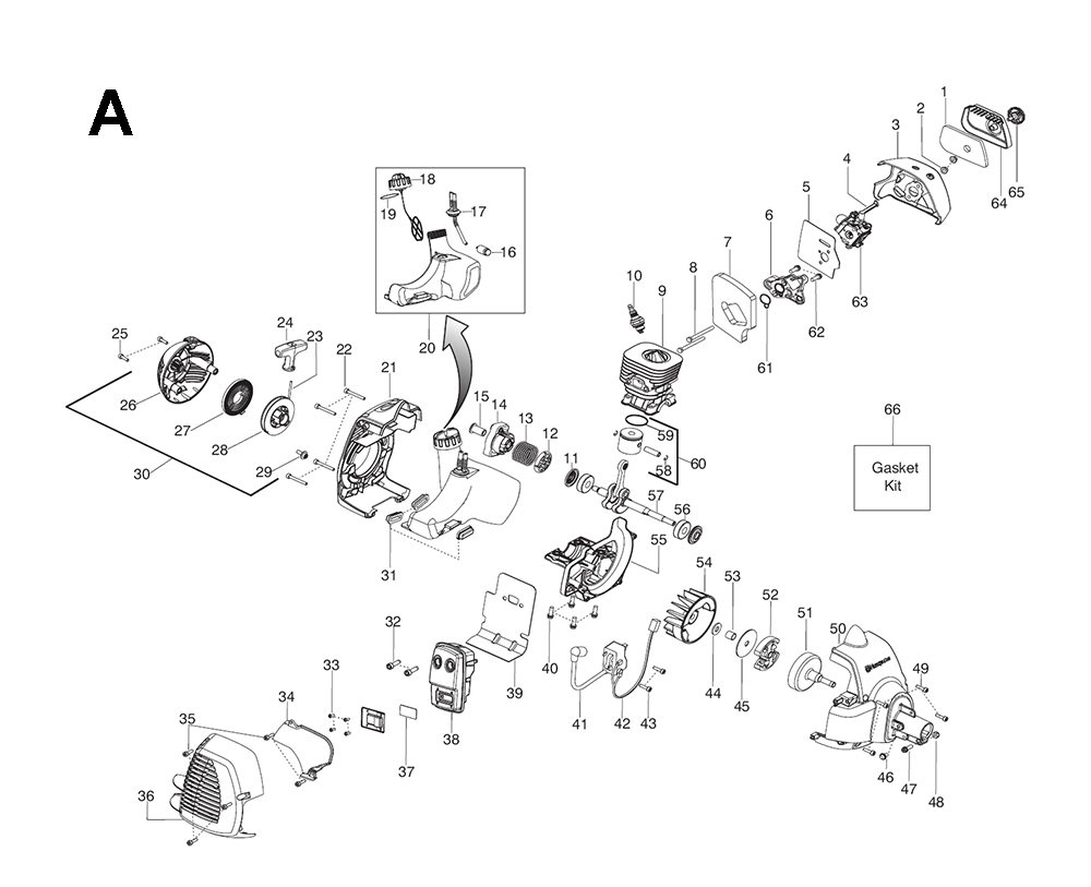 125 C-(545014389)-Husqvarna-PB-1Break Down