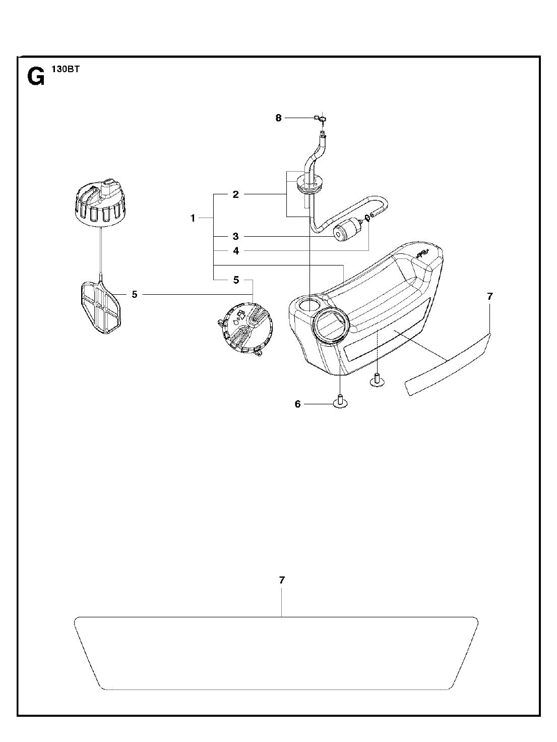 130BT-T1-Husqvarna-PB-6Break Down
