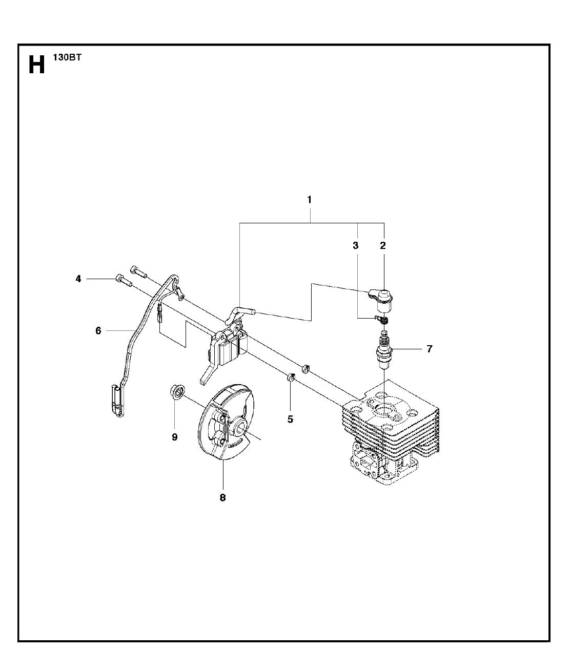 130BT-T1-Husqvarna-PB-7Break Down