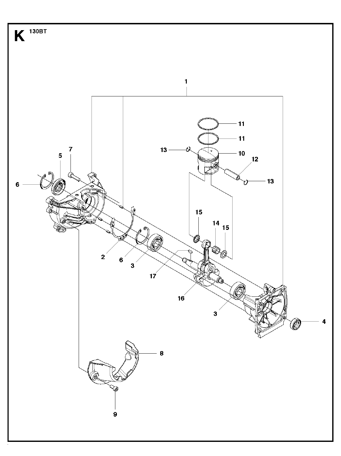 130BT-T1-Husqvarna-PB-9Break Down
