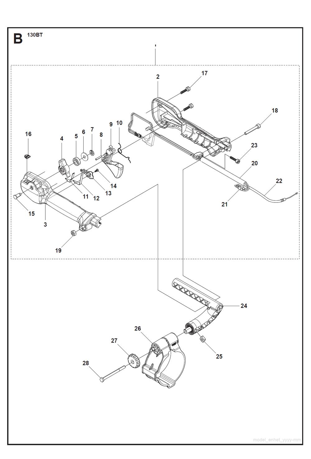 130BT-T2-Husqvarna-PB-1Break Down