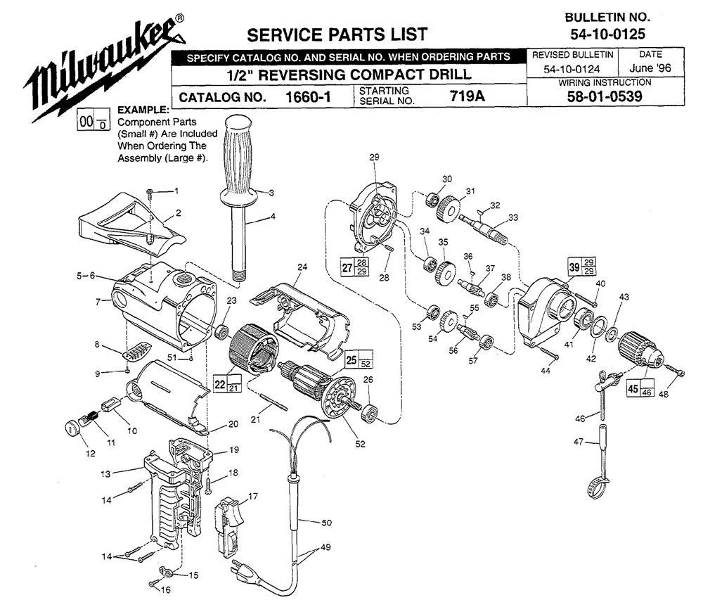 buy milwaukee 1660 2 u0026quot  reversing compact replacement tool parts
