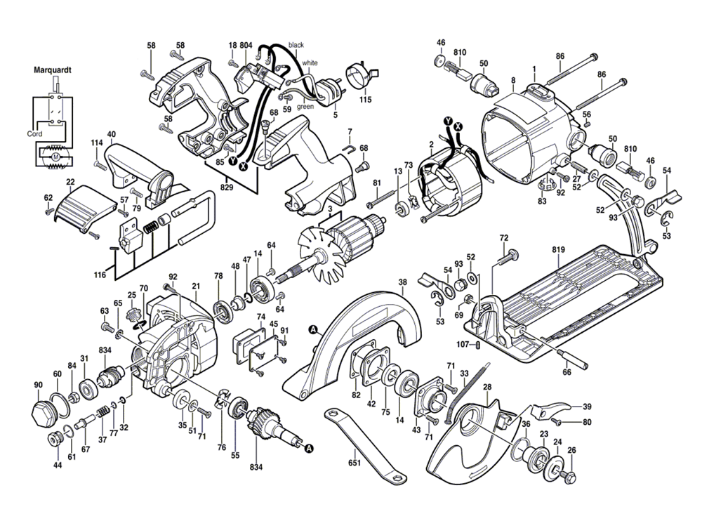 Ryobi Circular Saw Diagram Wiring Diagram And Engine Diagram