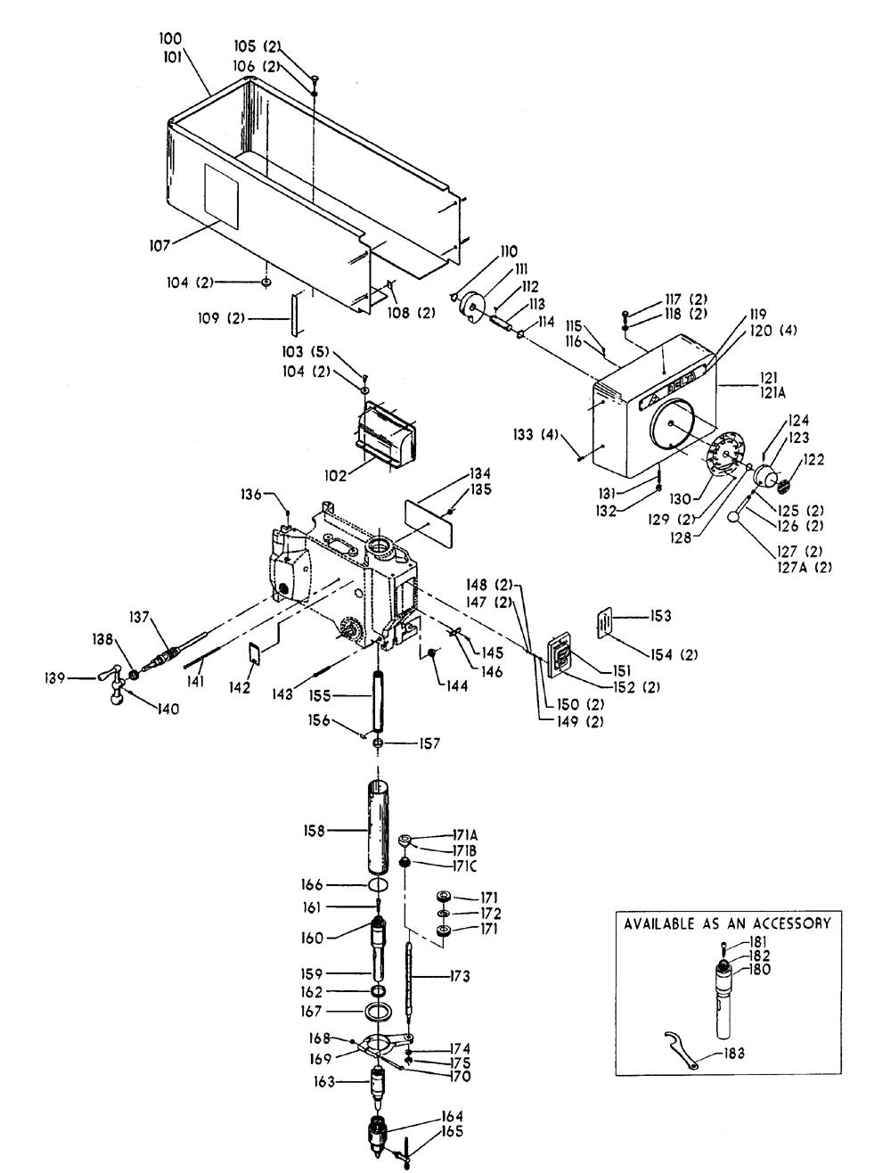Delta-17-531-Type-1-Parts-3628-PBBreak Down