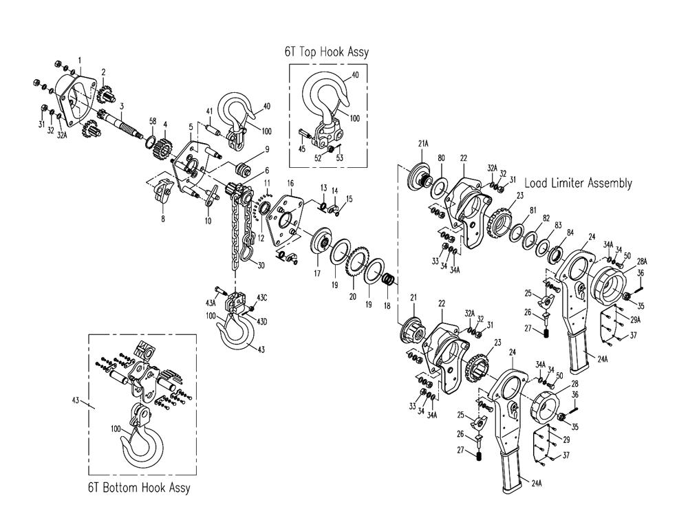 3 4 ton chain hoist diagram demag dc chain hoist diagram
