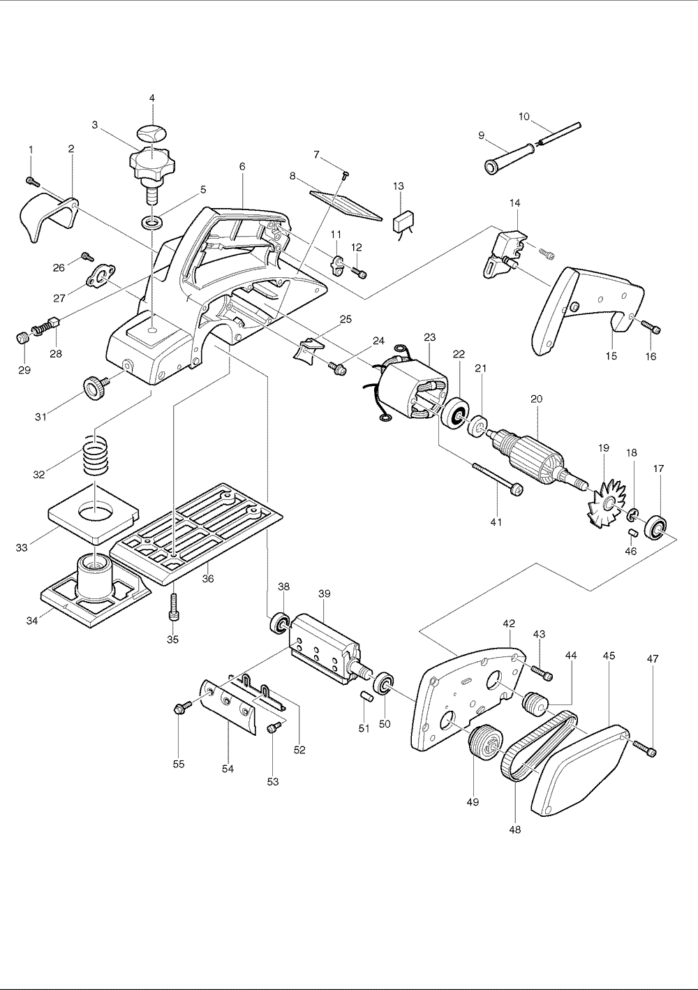 Jet planer wiring diagram