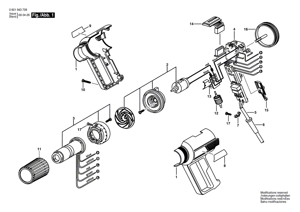 buy bosch 1943led  0601943739  electronic heat gun