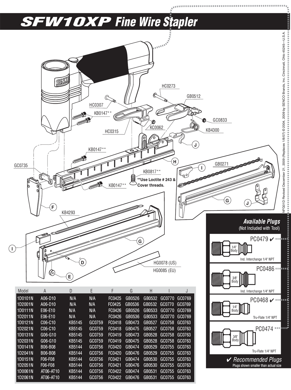 1D0101N-senco-PB-1Break Down