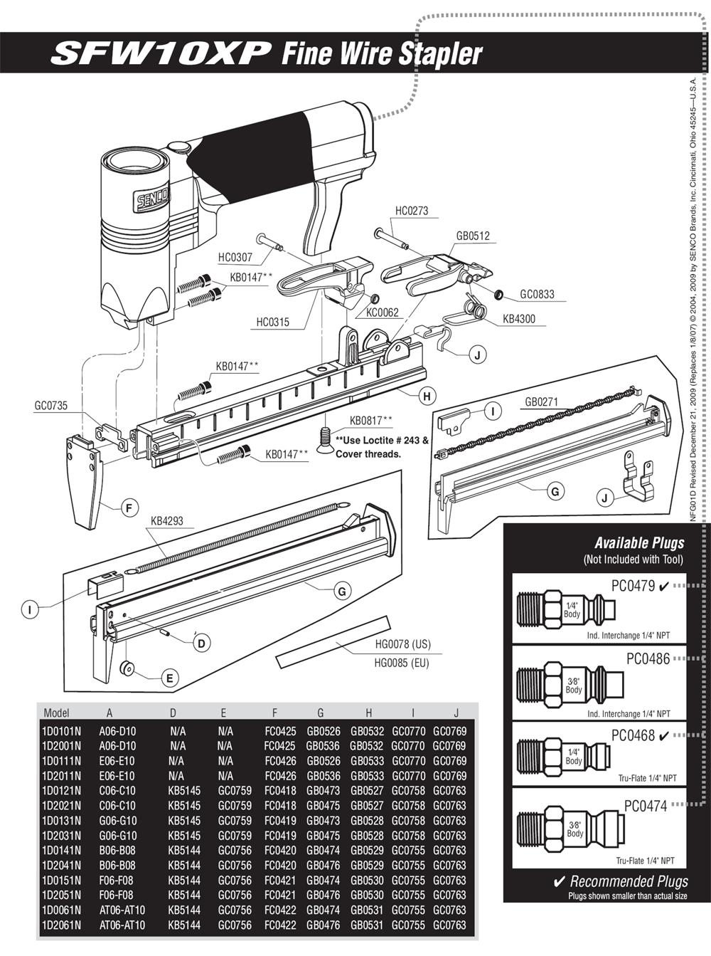 1D0121N-senco-PB-1Break Down