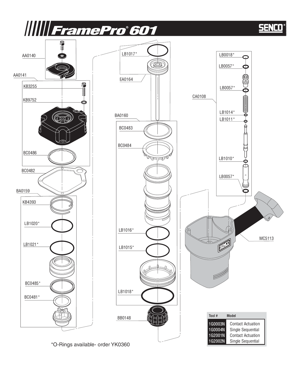 Pneumatic Counter Schematic Part : Buy senco framepro g n clipped head