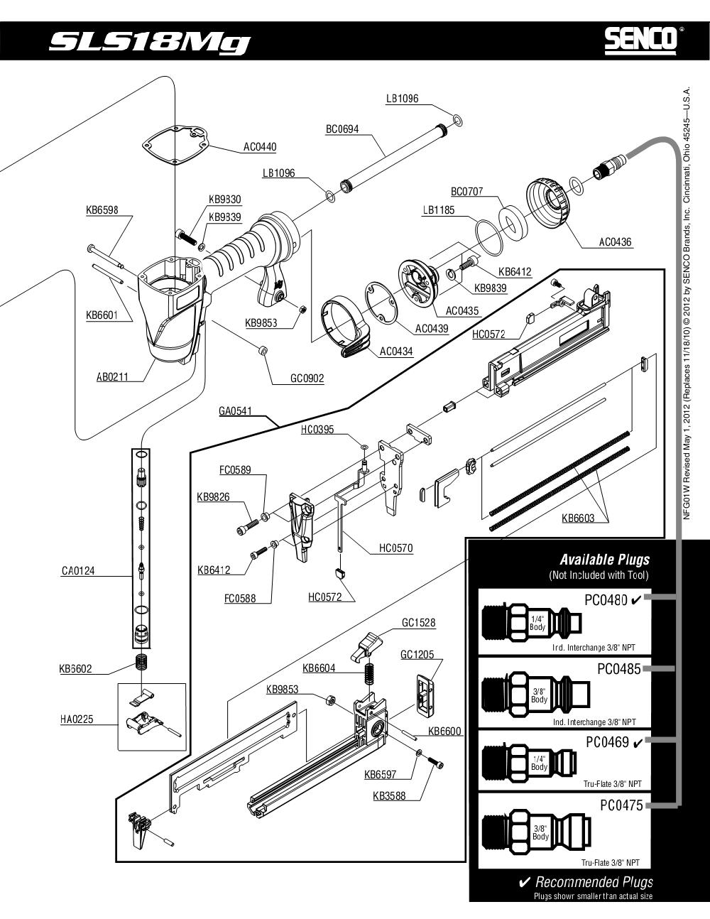1W0021N-senco-PB-1Break Down