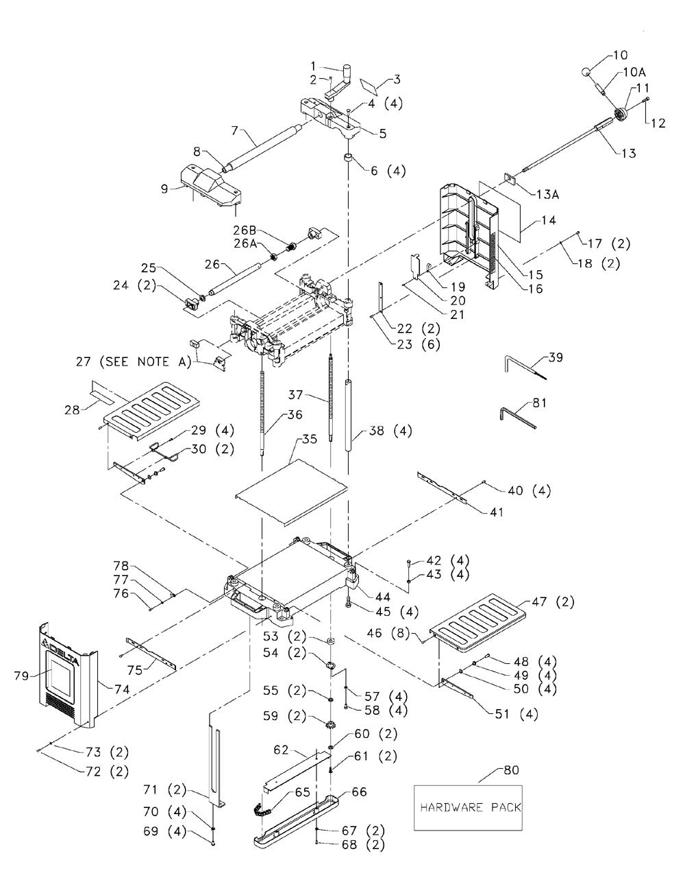 Buy Delta 22   565    Replacement Tool Parts   Delta 22   565    Planer Parts    Diagram