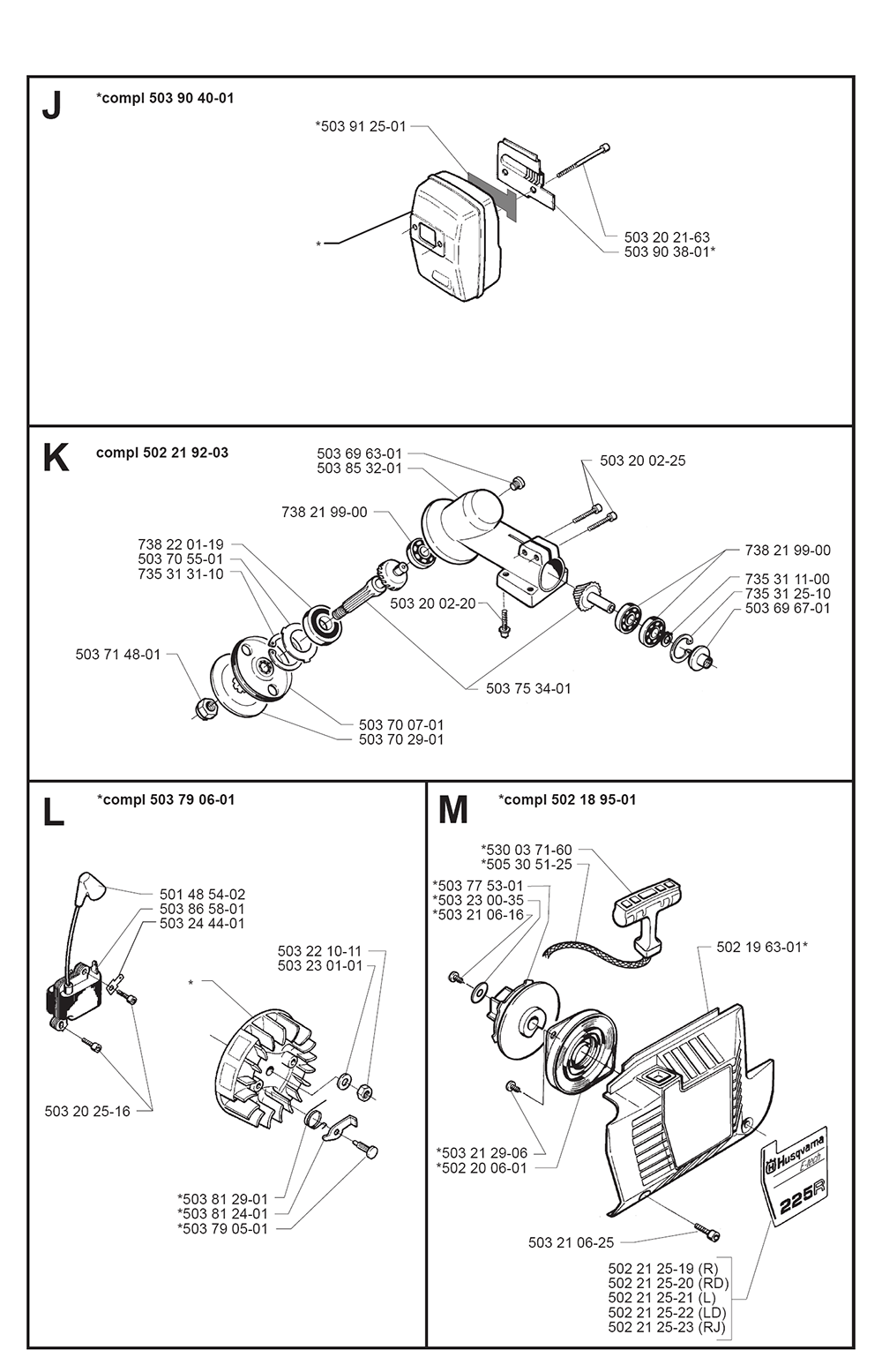 225 RJ-(I9700010)-Husqvarna-PB-3Break Down