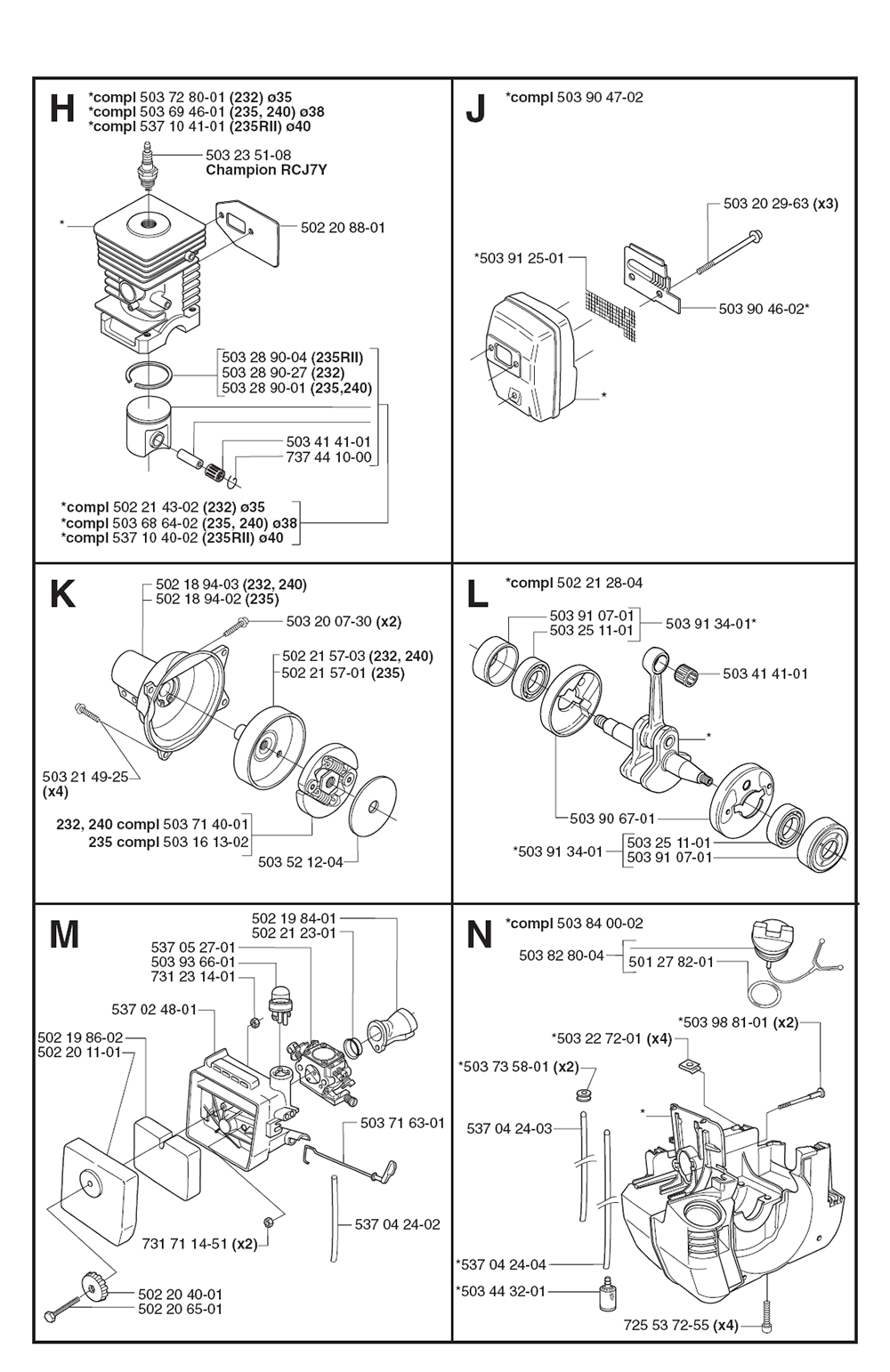 232 R-(1062645-62)-Husqvarna-PB-3Break Down