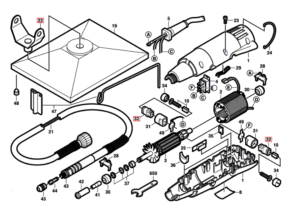 Tool Replacement Parts : Buy dremel f ca replacement tool parts
