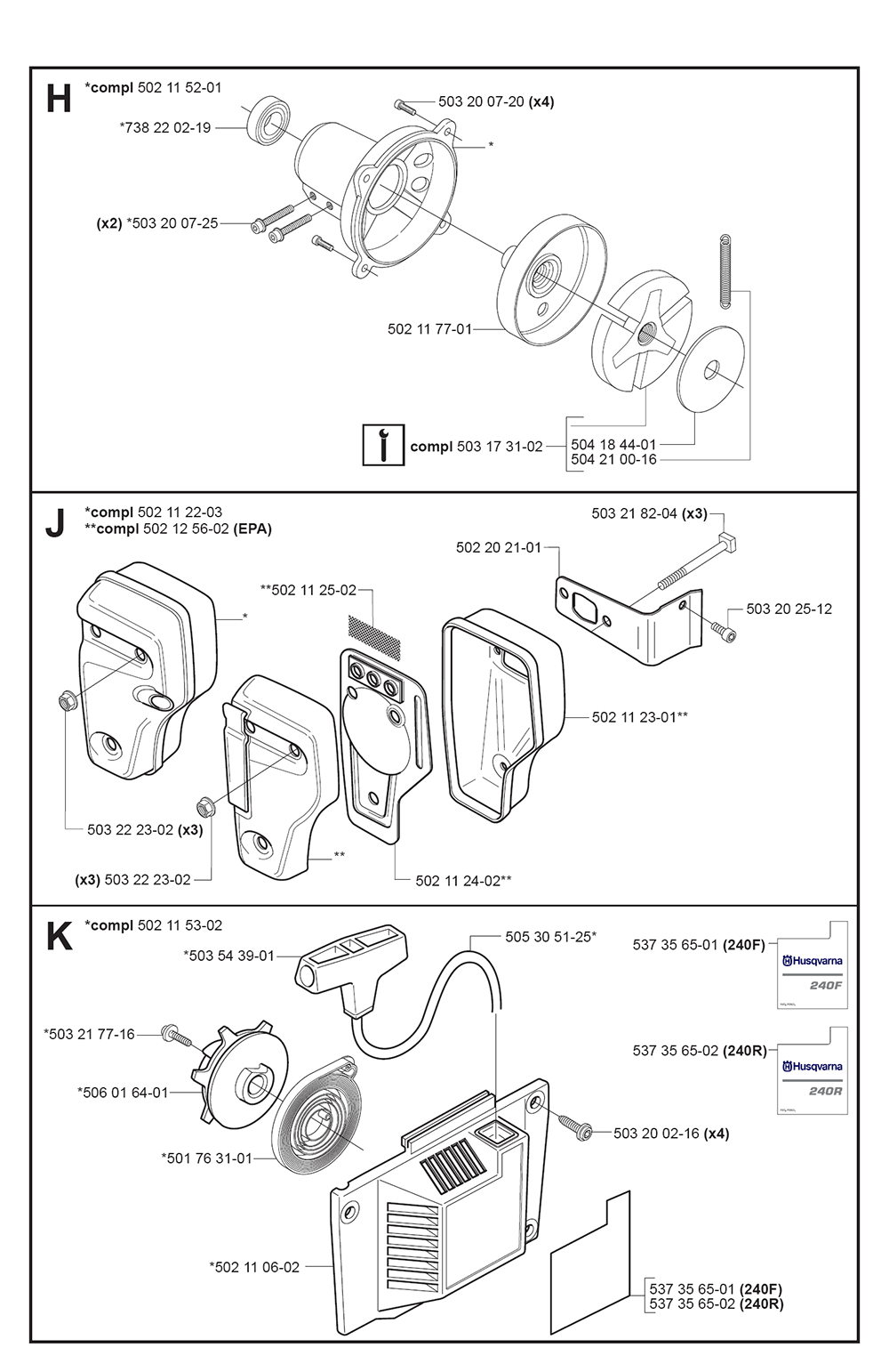 240 R-(5441951-01)-Husqvarna-PB-3Break Down
