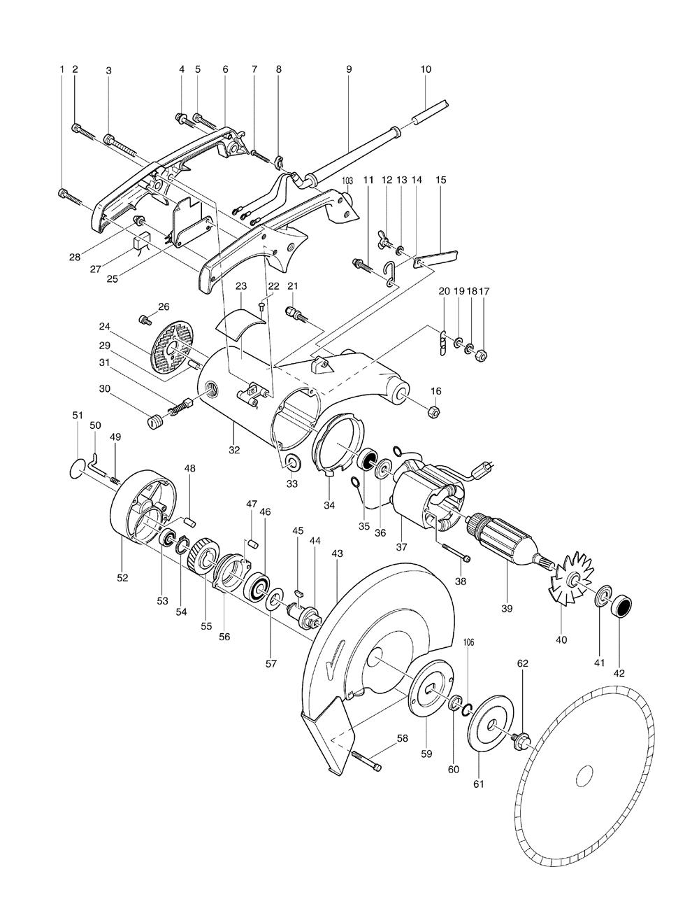 Buy Makita 2414 Replacement Tool Parts   Makita 2414    Electric    Saw Parts    Diagram