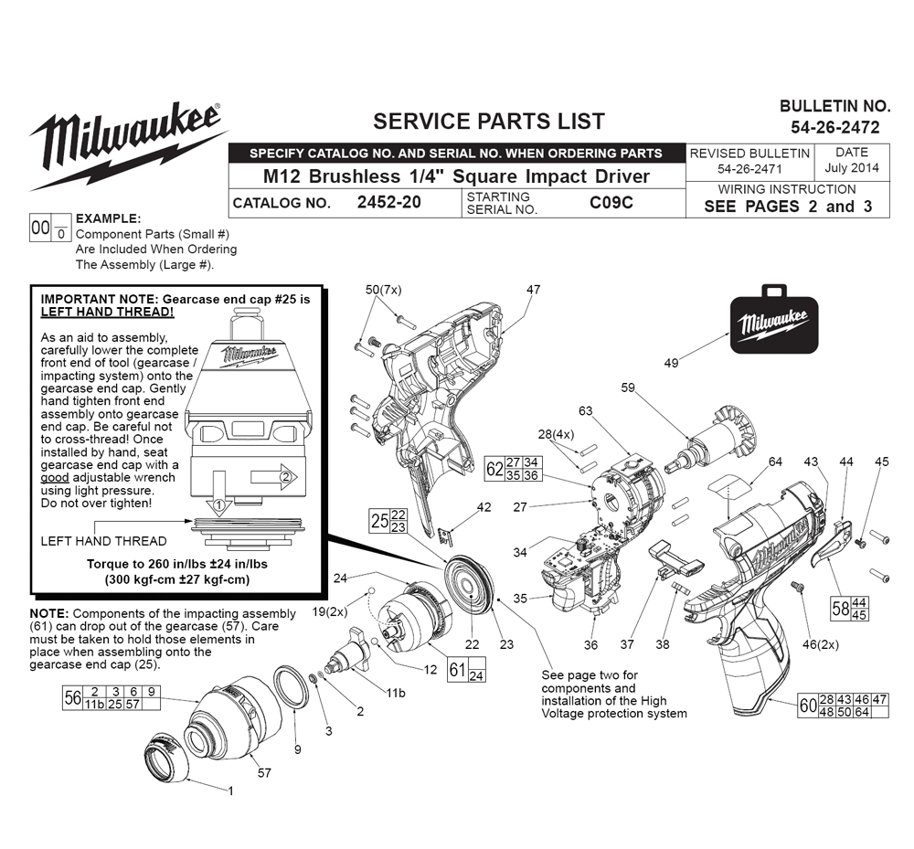 buy milwaukee 2452 4 inch replacement