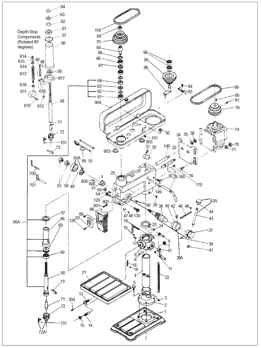 buy wilton 2550 replacement tool parts wilton 2550 drill press parts diagram