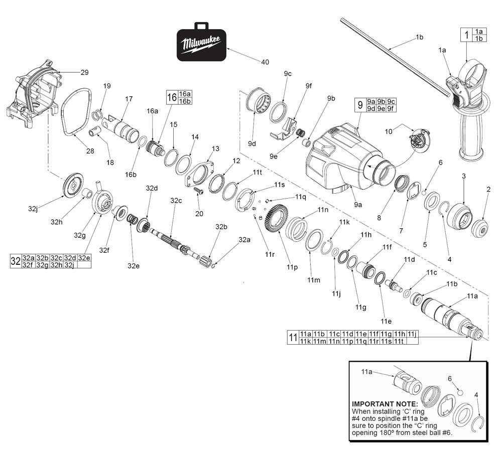 2605-22-(D14C)-Milwaukee-PB-1Break Down
