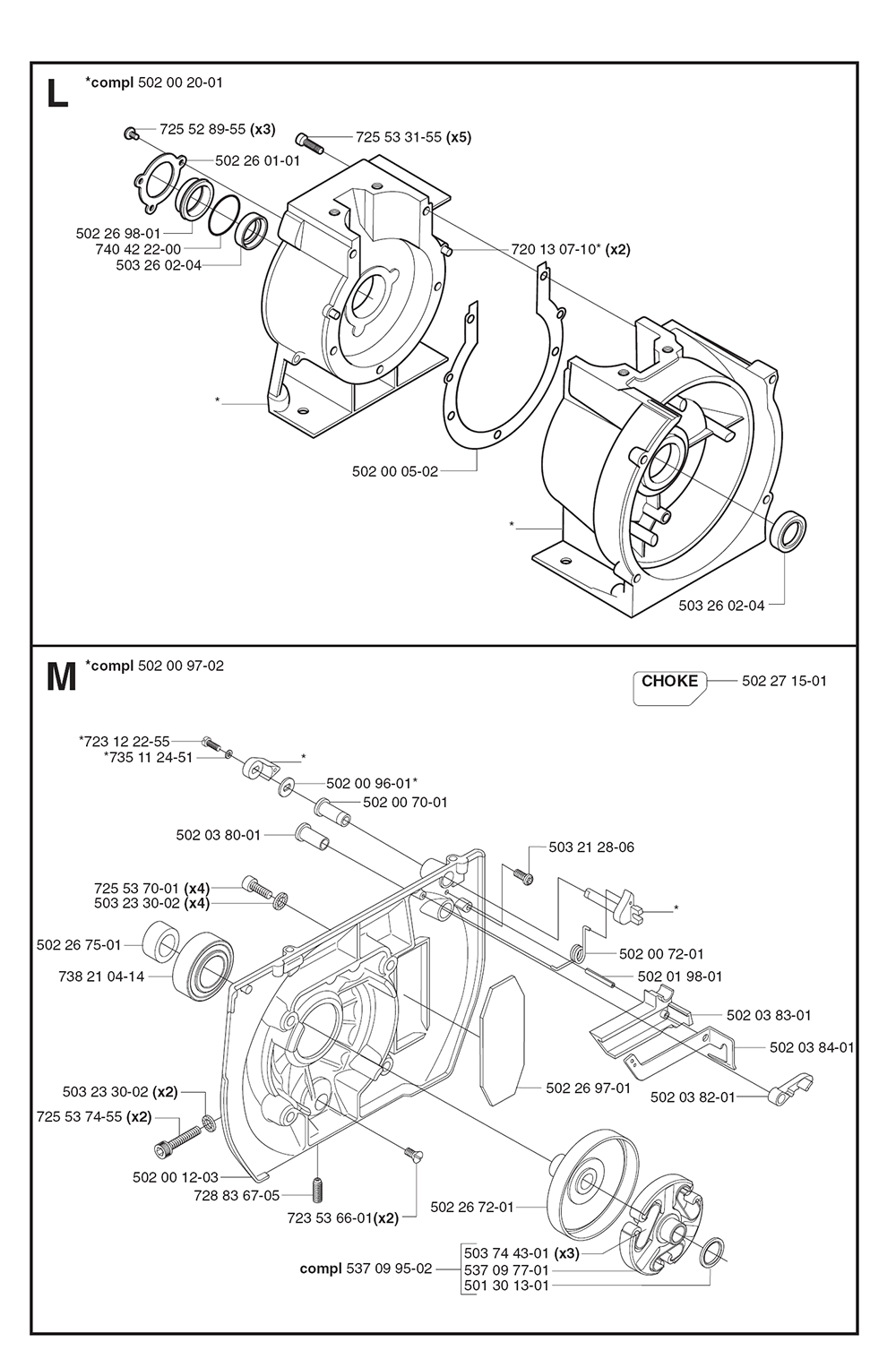 265 RX EPA-(1062292-67)-Husqvarna-PB-4Break Down