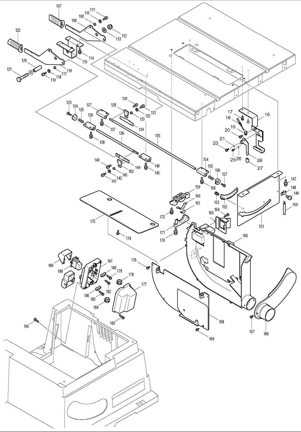 Makita-2705-500-PBBreak Down