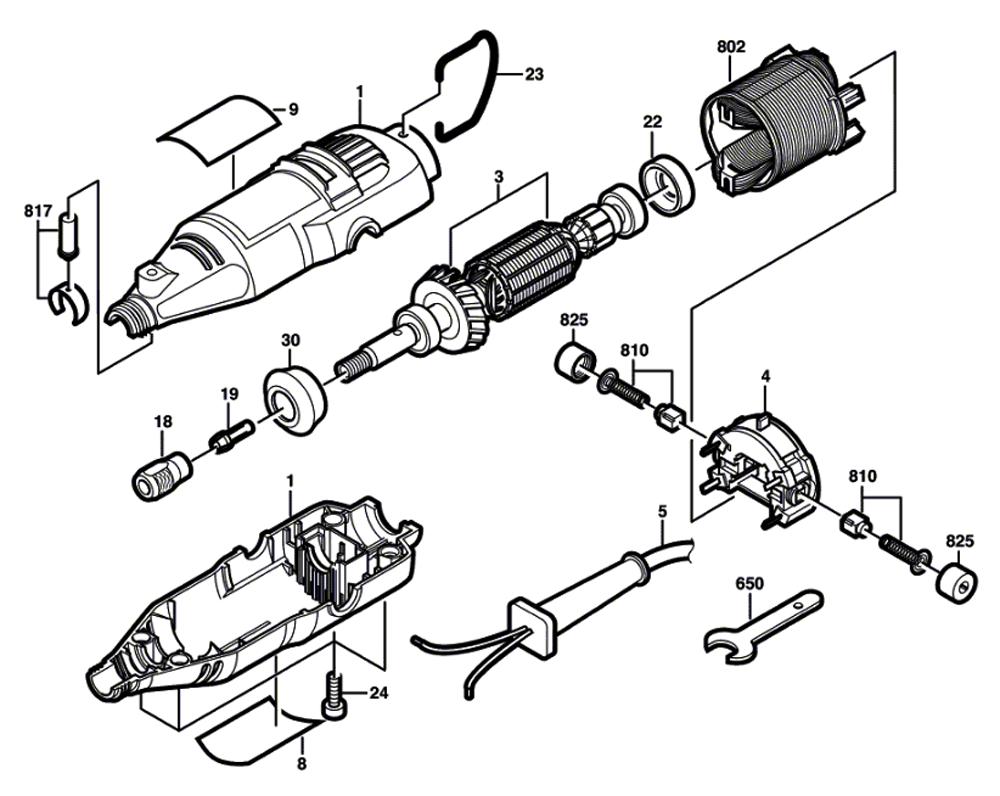 Dremel 4000 Parts List And Diagram Ereplacementpartscom