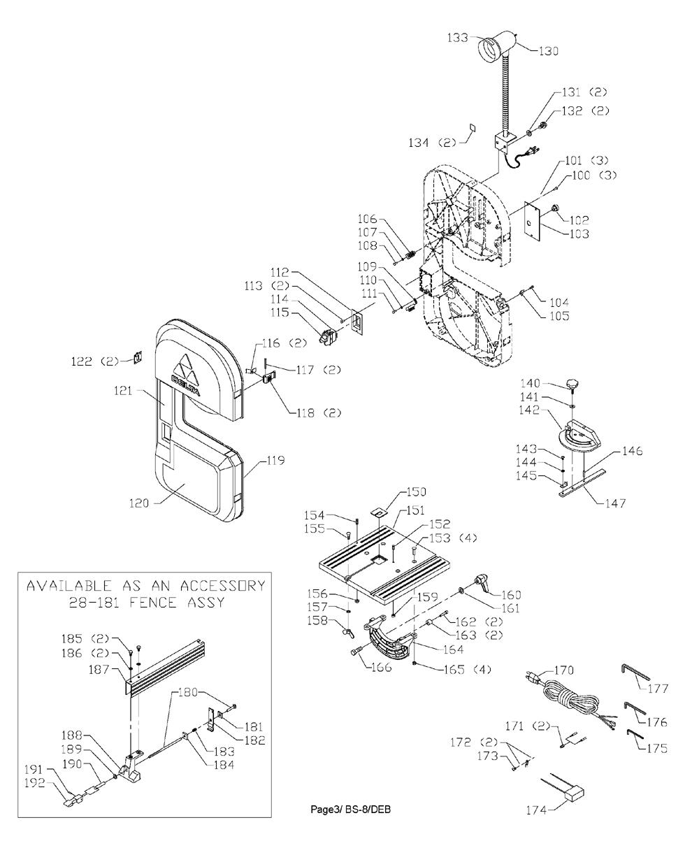 Delta-28-150-Type-1-Parts-3636-PBBreak Down