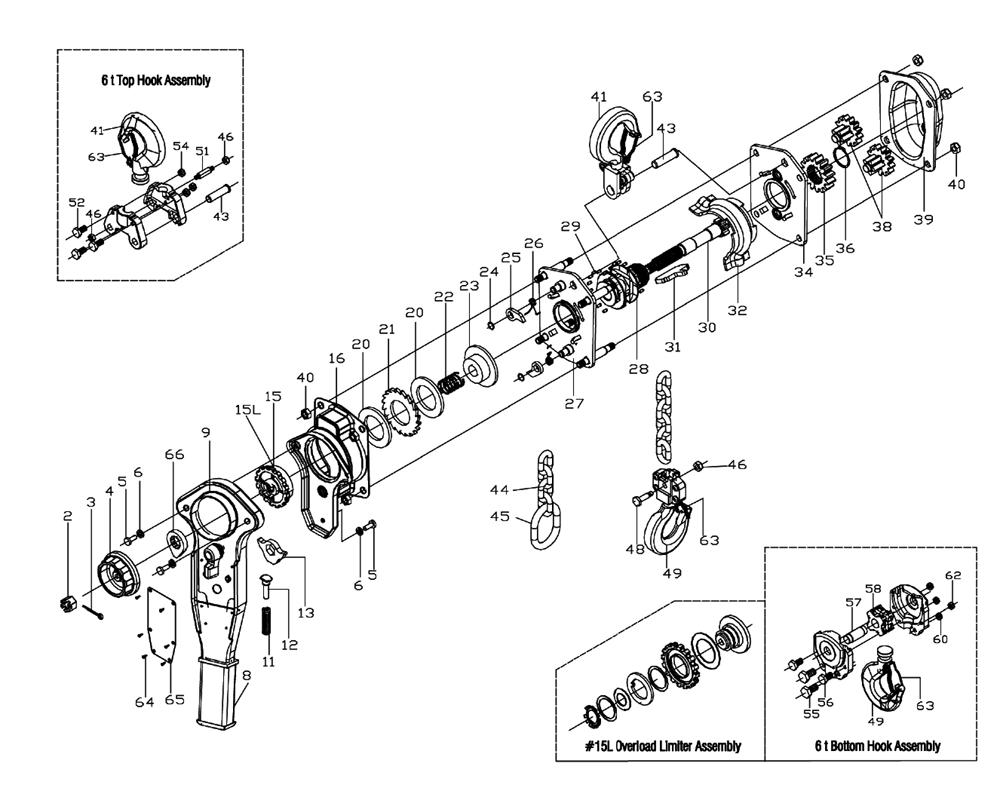 buy jet 287610 jlp 2 ton lever hoist with 5
