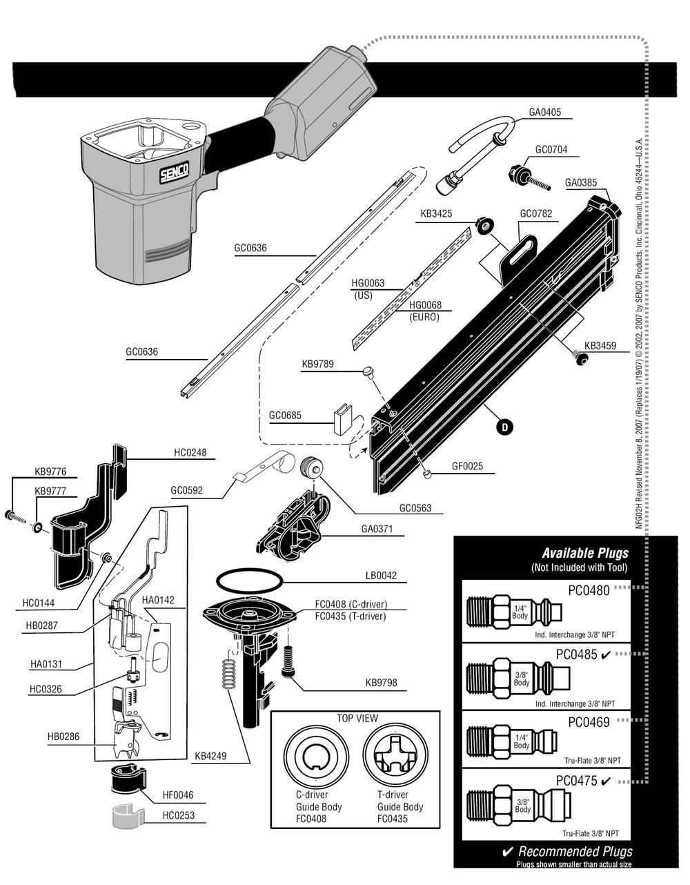 2J0103N-senco-PB-2Break Down