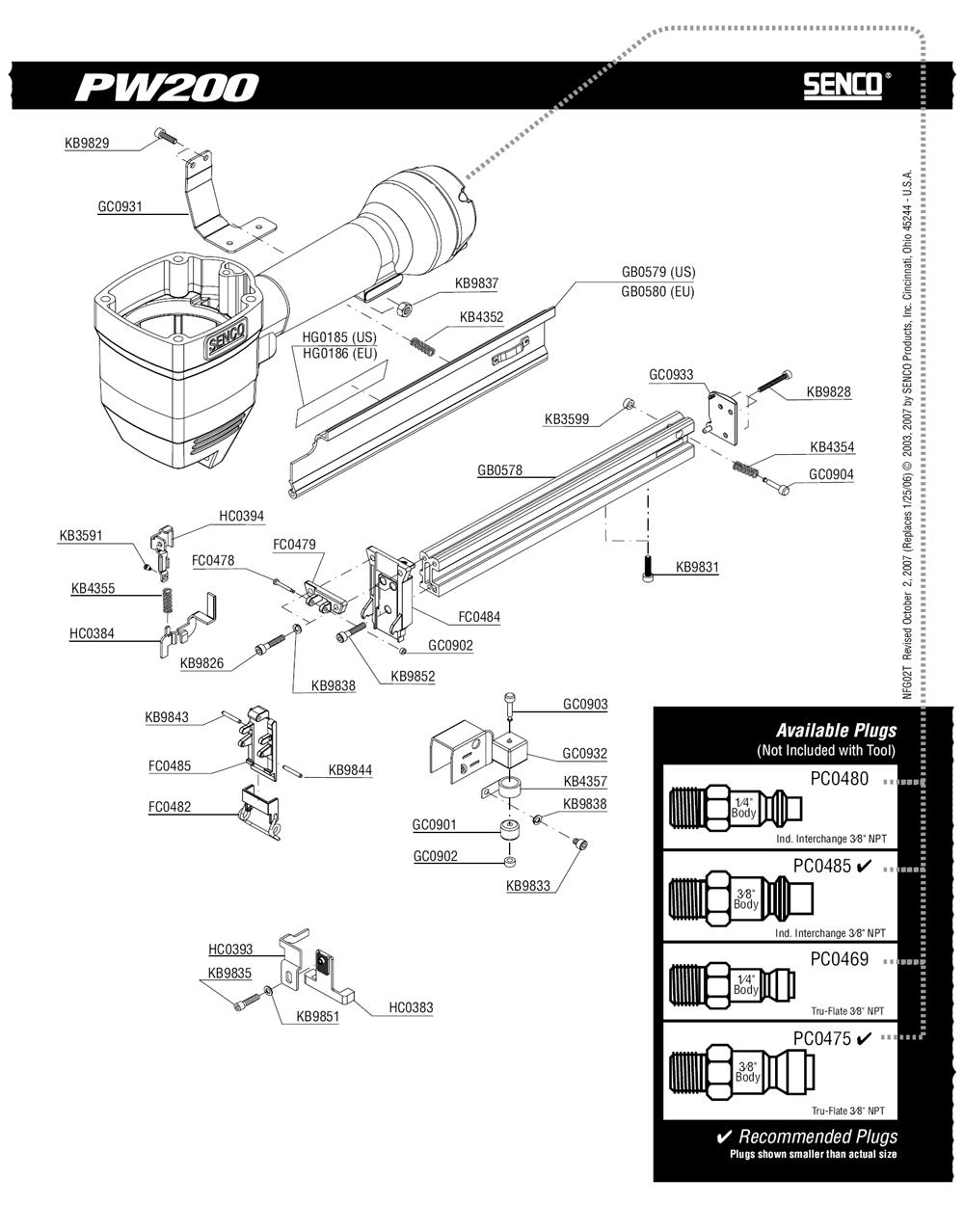 2T0001N-senco-PB-1Break Down