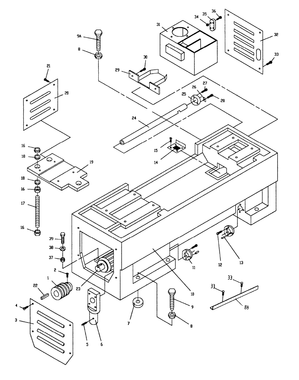 jet machine parts