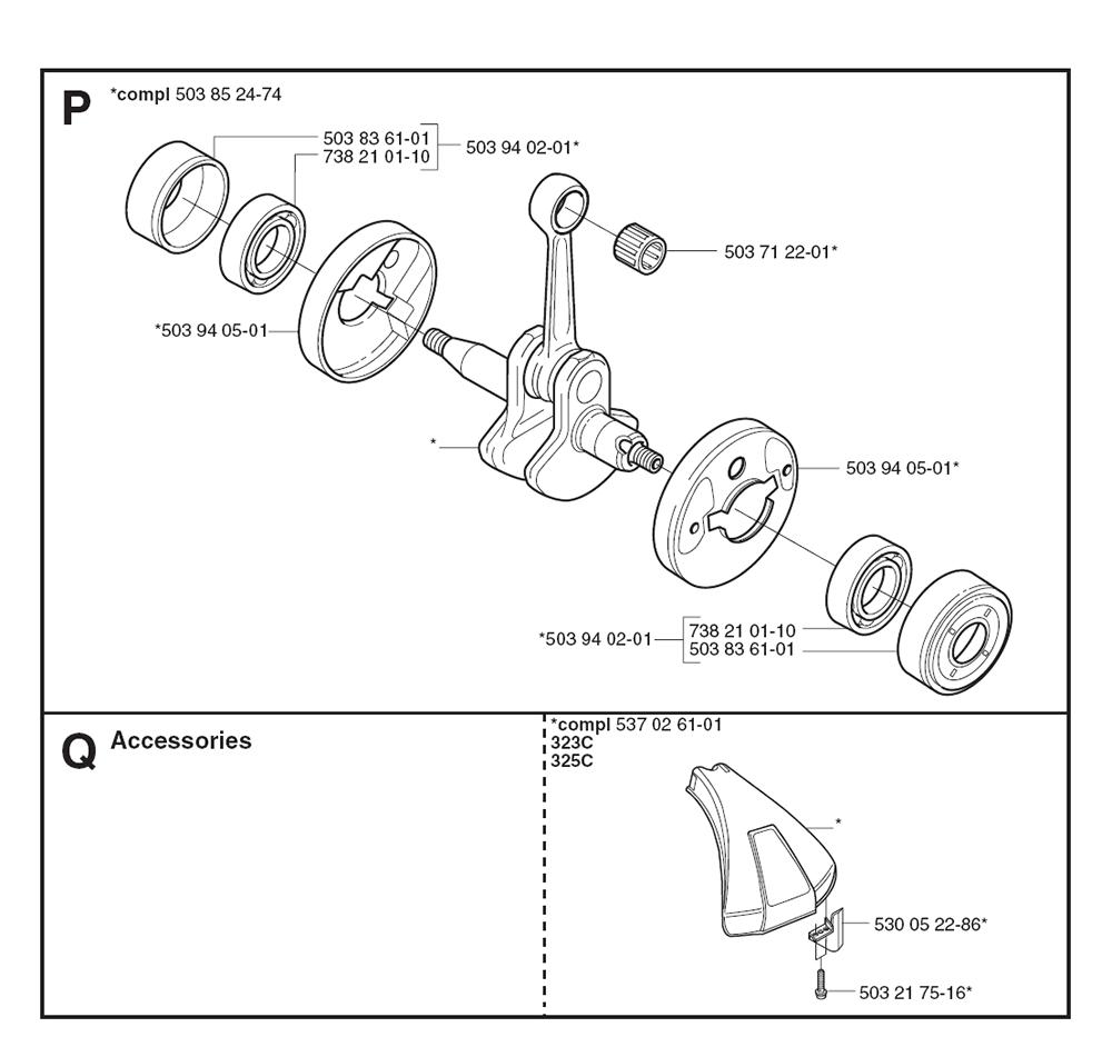 Buy Husqvarna 323 C 1062784 61 Replacement Tool Parts Wilton C0 List And Diagram After 1998 Ereplacementparts Pb 5break Down