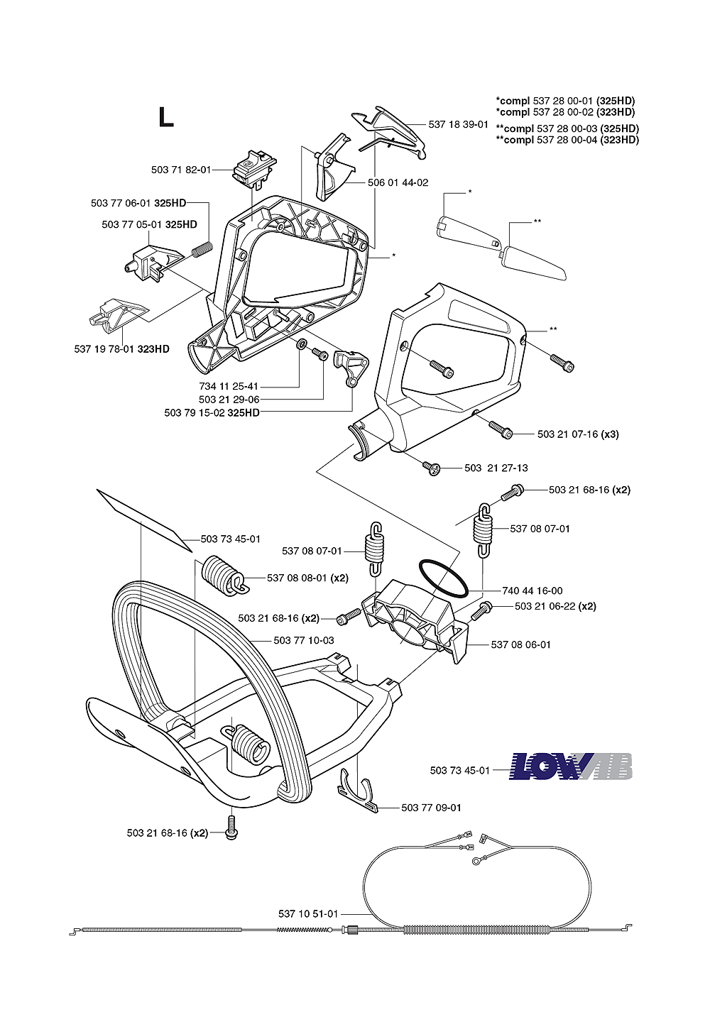 323 HD60-(1062756-61)-Husqvarna-PB-5Break Down