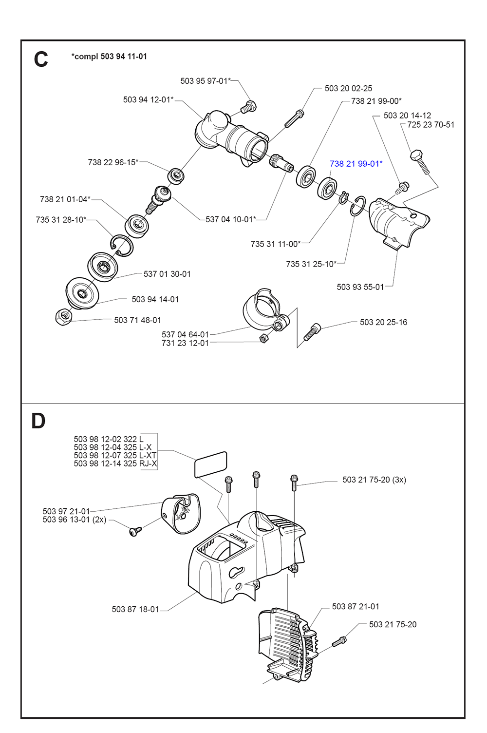 325 L-XT-SERIES-(I0000013)-Husqvarna-PB-1Break Down