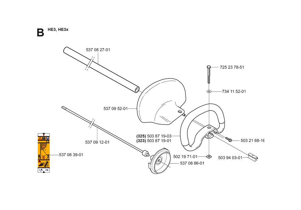 325HE3X-(5440584-01)-Husqvarna-PB-1Break Down
