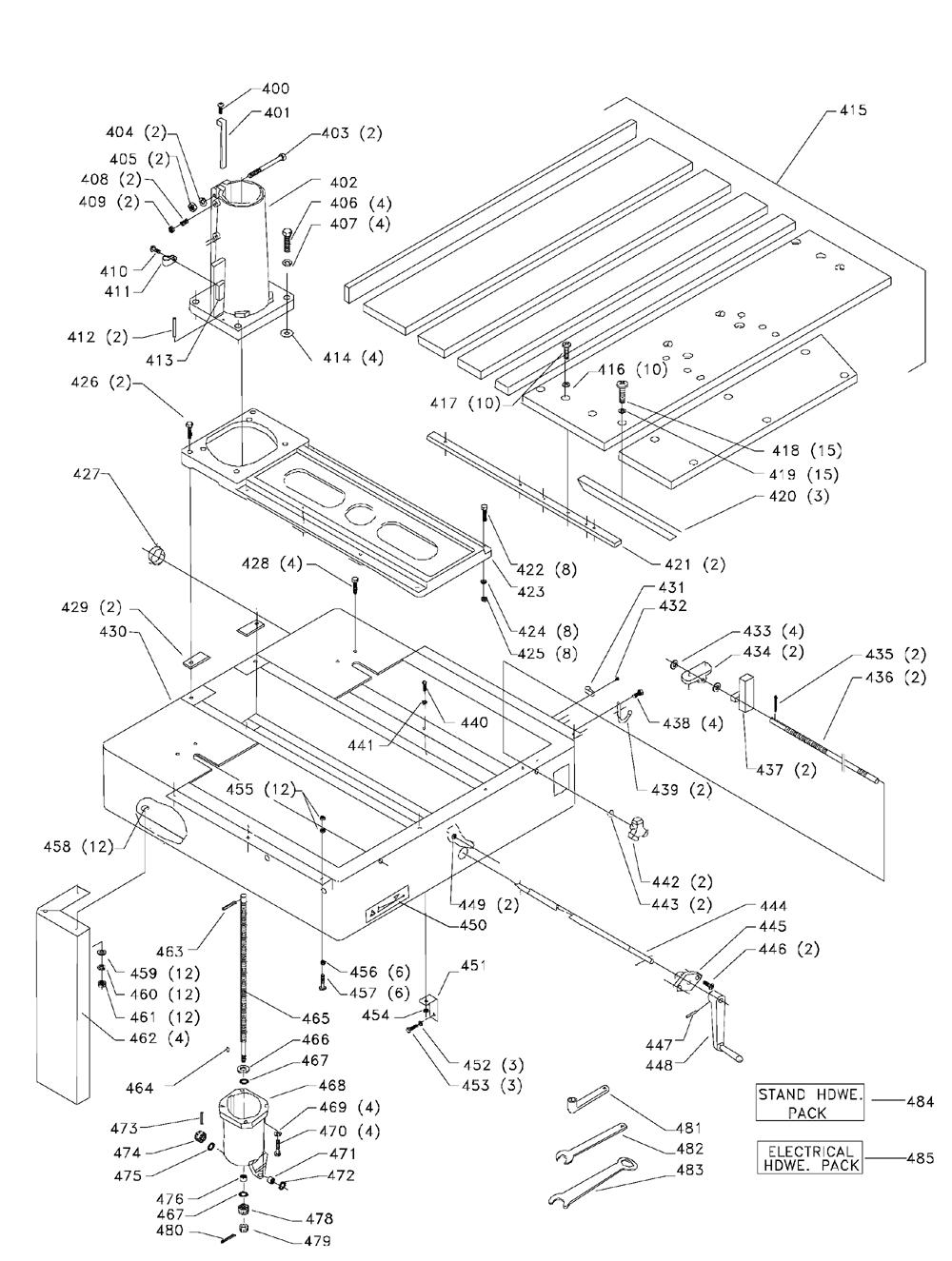 Delta-33-411-Type-2-Parts-1957-PBBreak Down