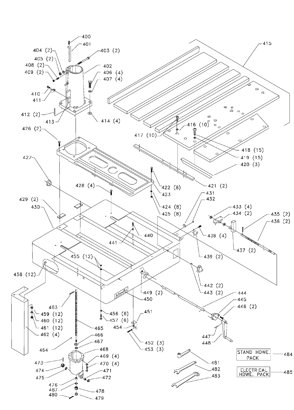 Delta-33-412-Type-2-Parts-1962-PBBreak Down