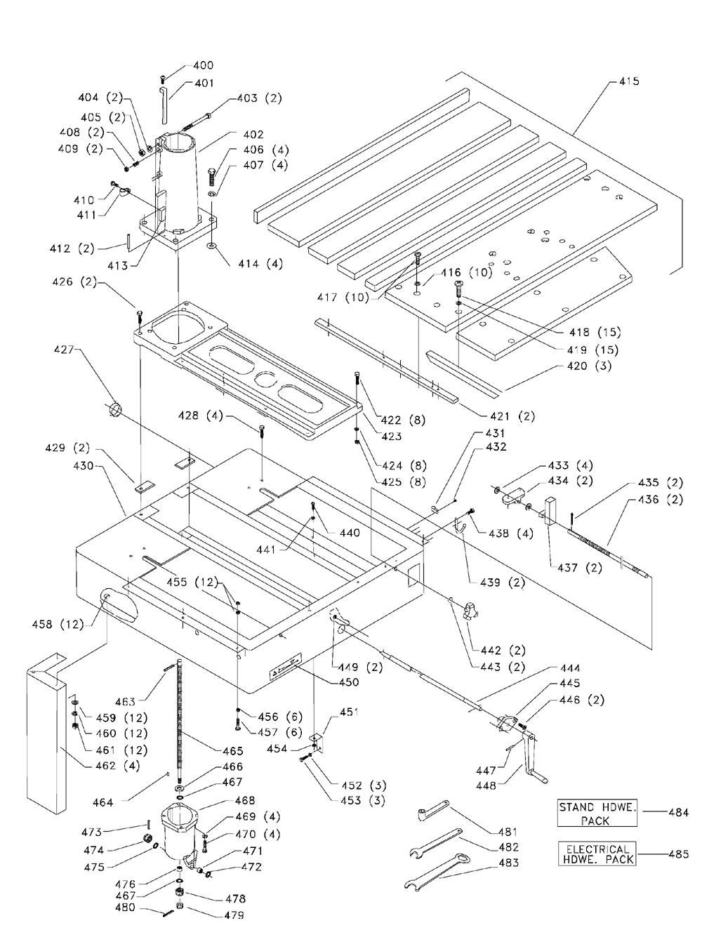 Delta-33-420-Type-2-Parts-1965-PBBreak Down