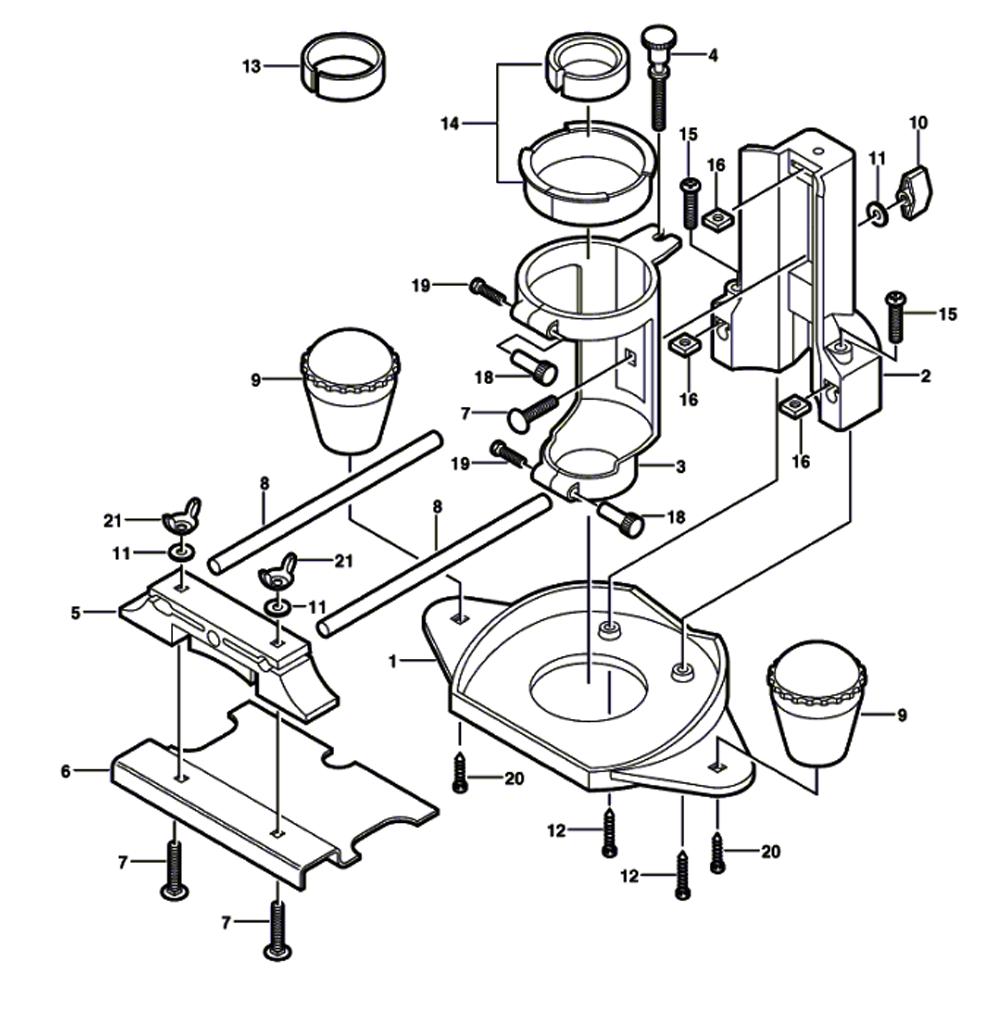 replacement tool parts | dremel 33032 2615033032 router diagram