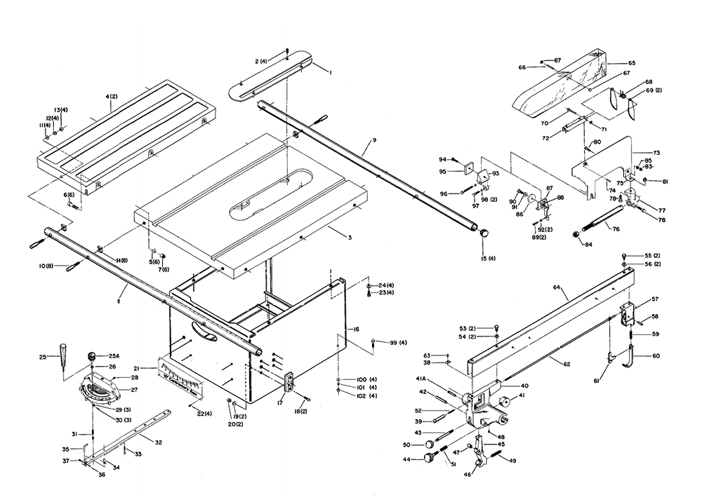 buy delta 34 410 type 1 replacement tool parts delta 34 410 type 1 saw parts diagram