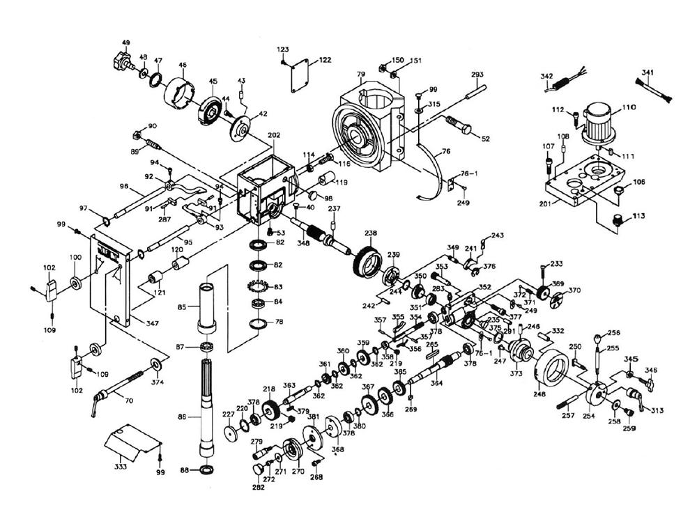 Powermatic Drill Press 1100 Schematics