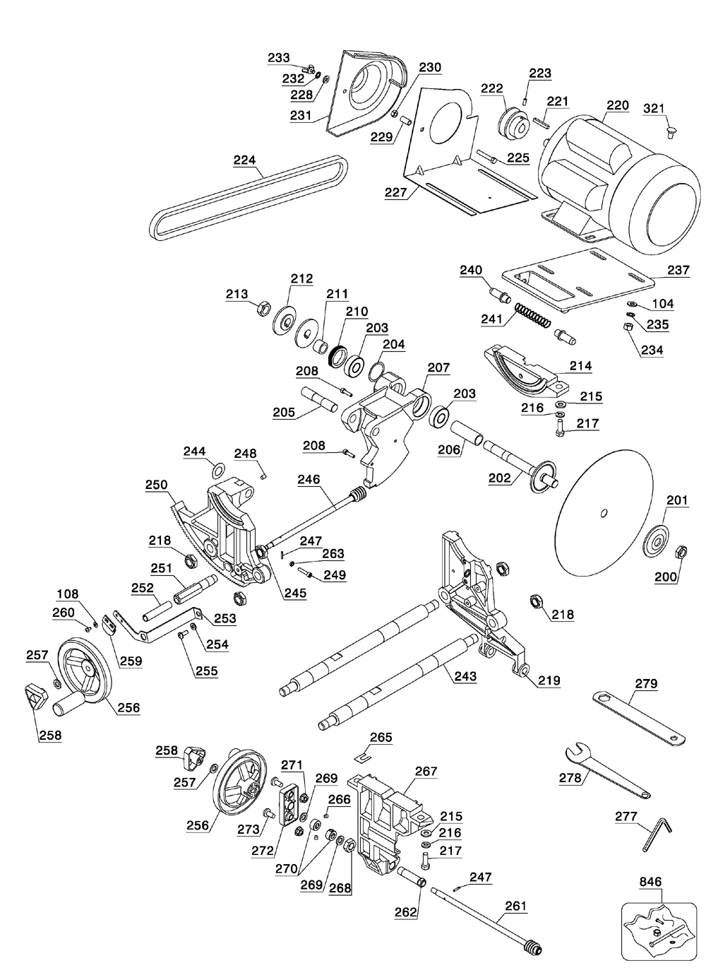 Dewalt Radial Arm Saw Wiring Diagram And Engine Craftsman Compound Miter Delta Shopmaster Table Besides De Walt Power Tool Diagrams Likewise Dw744