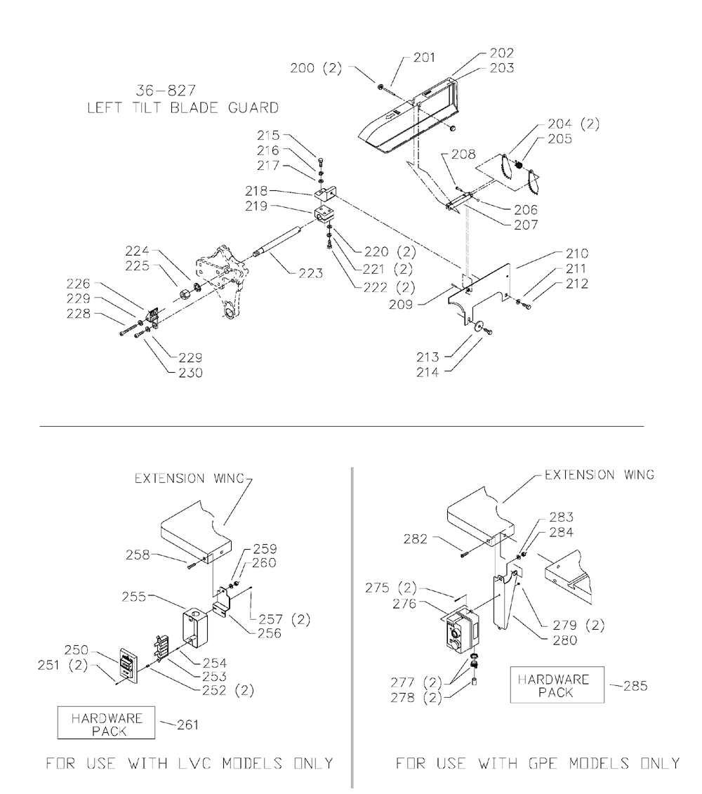 Delta-36-L51L-Type-1-Parts-3645-PBBreak Down